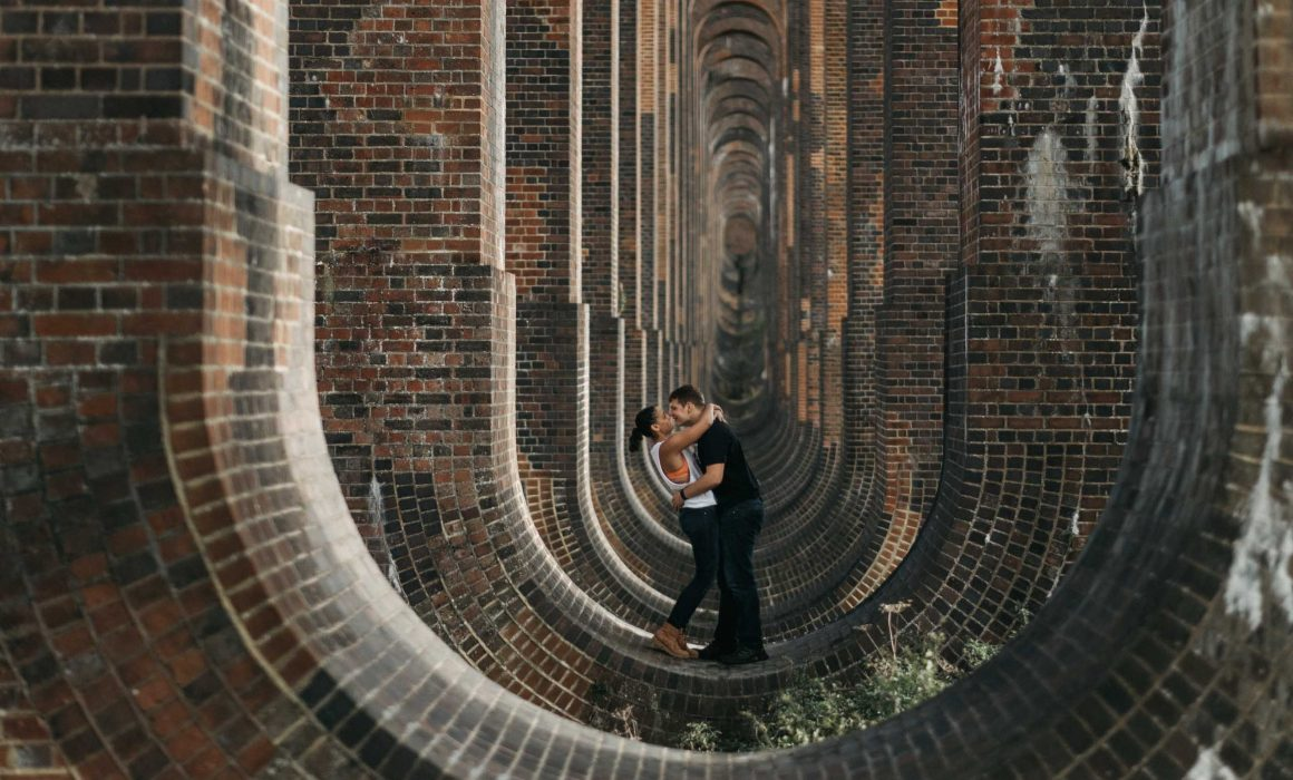 Ouse Valley Viaduct Sussex Engagement Session Lauren Nathan 3 1